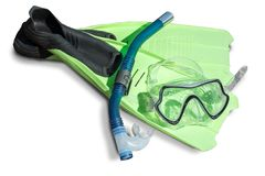 Snorkeling  diving set Royalty Free Stock Image