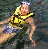 Snorkeling em México foto de stock
