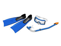 Snorkeling equipment Stock Photo