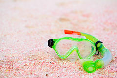 Snorkeling equipment on beach Stock Photography