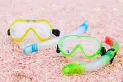 Snorkeling equipment on beach Stock Image