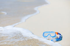 Snorkeling equipment on sand Stock Images