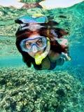 Snorkeling female Stock Image