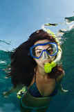 Snorkeling female Stock Photos