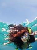 Snorkeling female Royalty Free Stock Photo