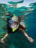Snorkeling female Royalty Free Stock Images