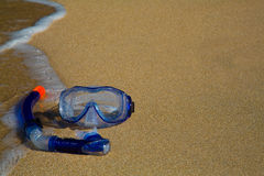 Snorkeling Gear at the beach Stock Photos