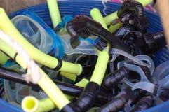 Snorkeling gear Stock Photos