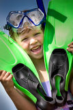 Snorkeling girl Royalty Free Stock Images