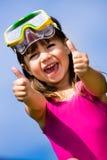 Snorkeling girl Stock Photo