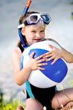 Snorkeling girl Royalty Free Stock Image