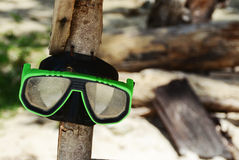 Snorkeling Goggles on a beach Royalty Free Stock Photography