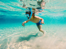 Snorkeling in Greece Royalty Free Stock Photography