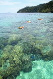 Snorkeling island. Royalty Free Stock Photo