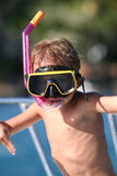 Snorkeling kid Stock Photography