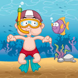 Snorkeling kid Royalty Free Stock Image