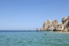 snorkeling kvinna för caboslos mexico Royaltyfri Bild