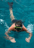 Snorkeling man. Stock Photo