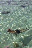 Snorkeling man Royalty Free Stock Photo