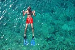 Snorkeling man Royalty Free Stock Image
