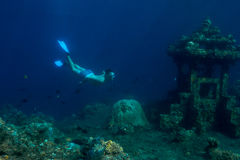 Snorkeling man Royalty Free Stock Images
