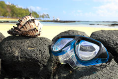 Snorkeling mask Stock Photo