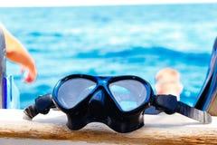 Snorkeling maskerar arkivfoton