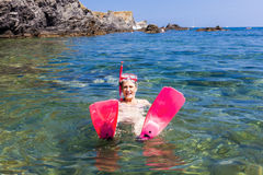 Snorkeling Royalty Free Stock Image
