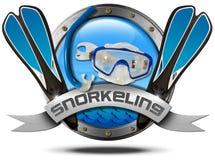 Snorkeling - Metal Icon Stock Image
