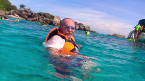 Snorkeling stock footage