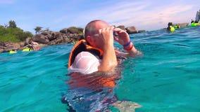 Snorkeling stock video