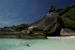 Snorkeling near Similan island , Thailand Stock Photos