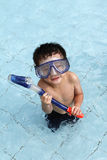 Snorkeling At the Pool Royalty Free Stock Photo