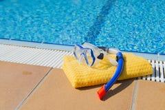 Snorkeling ręcznik i set Zdjęcia Royalty Free