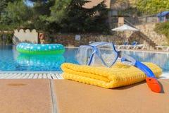 Snorkeling ręcznik i set Obrazy Stock
