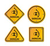 Snorkeling roadsigns Stock Image