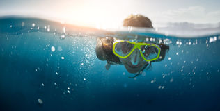Snorkeling in the sea Royalty Free Stock Photography