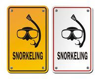 Snorkeling signs Royalty Free Stock Photo