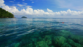 Snorkeling spot on crystal Andaman sea at Koh Surin Royalty Free Stock Photos
