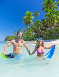 Snorkeling Swimming Summer Vacation Relaxing Concept Stock Image