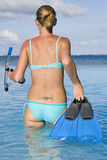 Snorkeling - Tahiti - franska Polynesia Arkivbilder