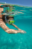 Snorkeling world Stock Photos