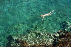Snorkeling on Zakynthos island Stock Images