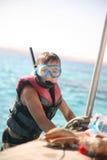 Snorkeljunge Stockfotografie
