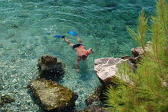 Snorkelling in Croatia Royalty Free Stock Images