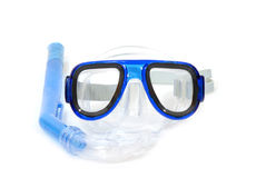 Snorkelling equipment on white background Royalty Free Stock Image