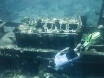 Snorkelling holownik łódź fotografia stock