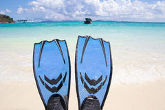 Snorkelling on siam bay Stock Photo