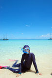 Snorkelling w zwrotnikach Zdjęcia Royalty Free