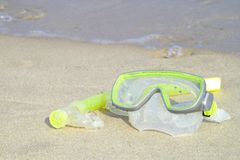 Snorkelt Royalty-vrije Stock Foto
